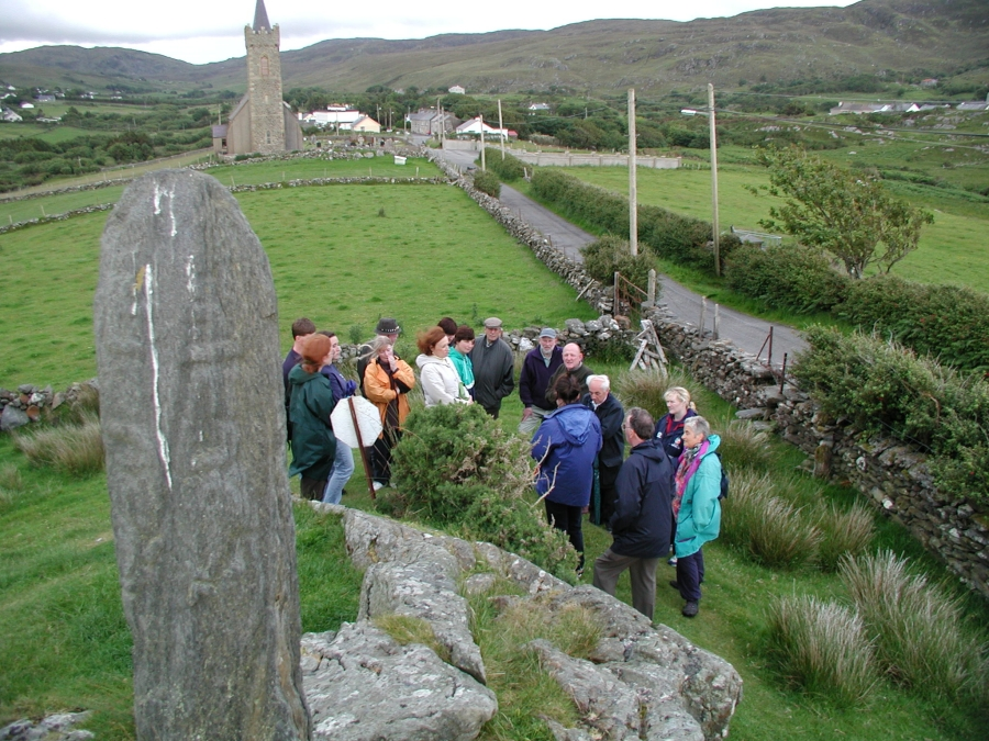 The Colm Cille pilgrimage cuts across the natural landscape of Gleann Cholm Cille.