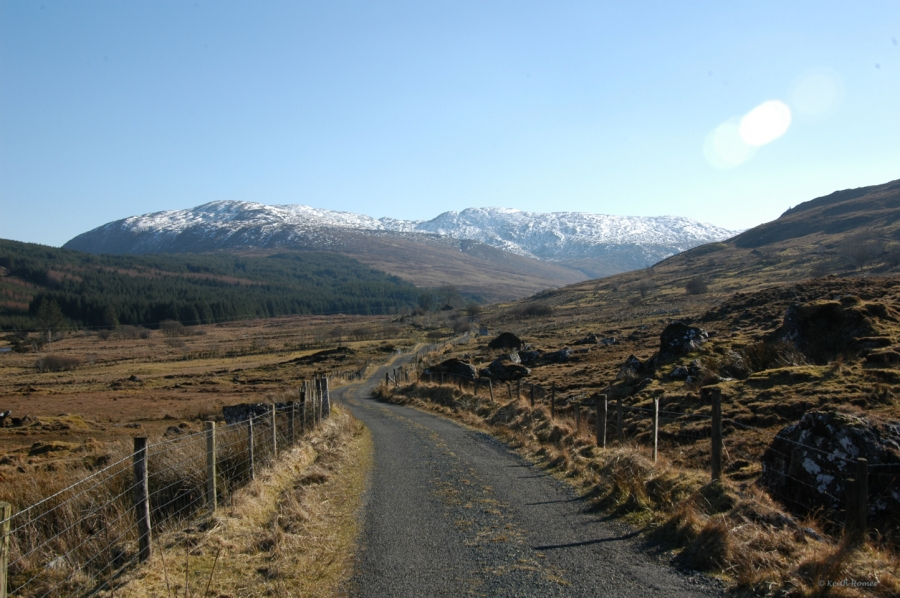 Snow on the Bluestack Mountains, Glenfin