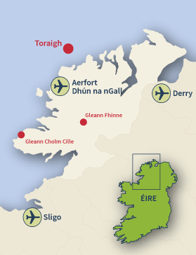Where to find Tory Island, Co. Donegal.