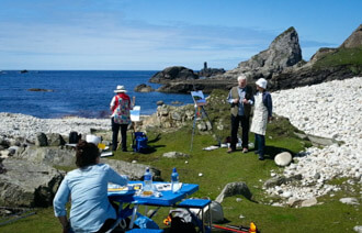 Painting the Atlantic coastline.