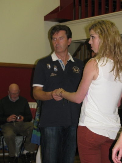 Daniel O'Donnell and Áine set dancing at our Summer School