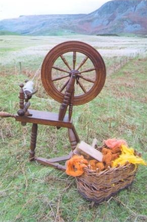 Donegal spinning wheel in Glencolmcille.